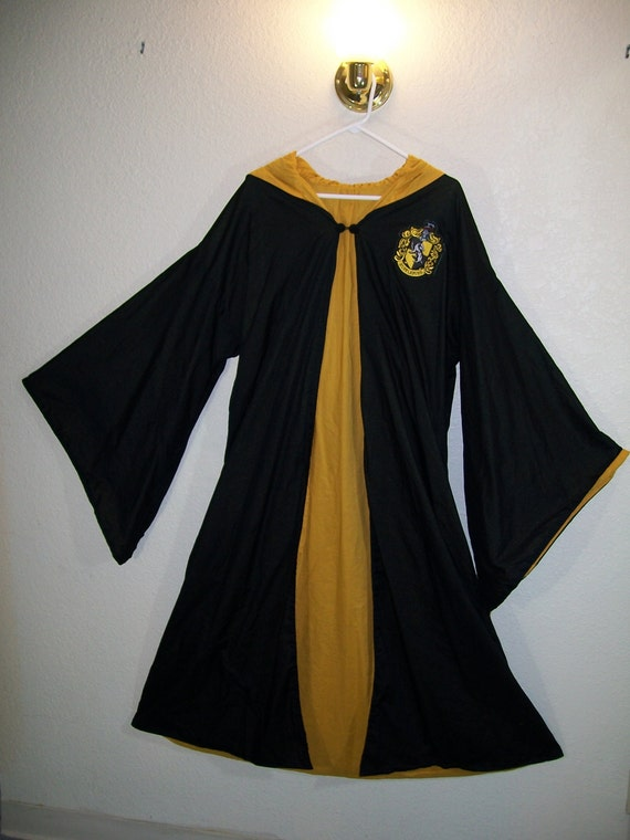 Yellow Hufflepuff Adult Costume Robe One Size Fits All Harry