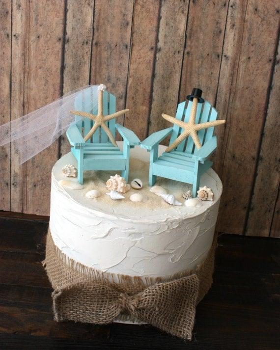 Mini Adirondack Chair Wedding Cake Topper