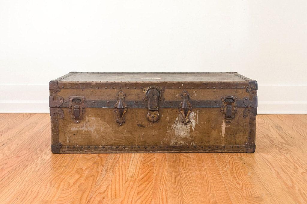 Vintage Distressed Trunk Coffee Table