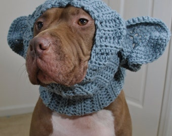 Dog Snood Elephant Crochet MADE TO ORDER