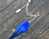 Feather Ear Cuff - Blueberry Feather