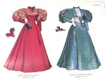Victorian Paper Dolls: Antique Fashion Paper Dolls of the 1890s, Vintage Book