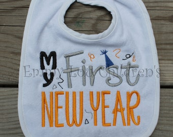 My First New Year Bib - Great Baby Gift