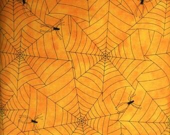 Hair Raising Halloween Spider Webs Orange