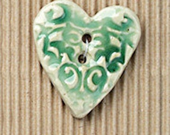 Embossed Hearts Buttons