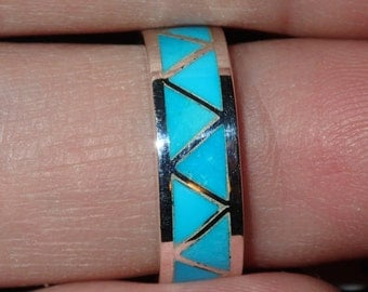 Zuni Turquoise  Sterling Silver Ring