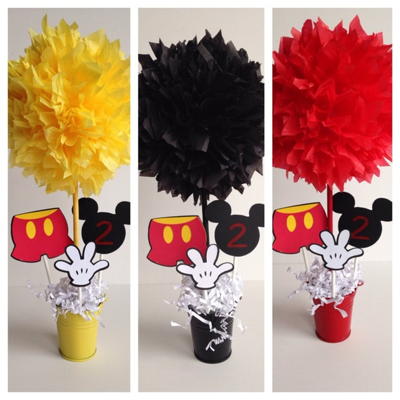 Mickey Mouse birthday party decoration, centerpiece, centerpieces