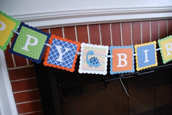 ... Happy Birthday Banner, Dinosaur Theme, Dinosaur Birthday Party