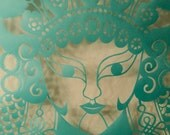 Hand-carved  Beijing Opera Face MuGuiying by Voyo Woo