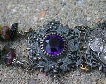 Vintage Art Nouveau cuff bracelet