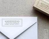 Bold Address Stamp - Wooden or Self Inking Stamper - Personalized Address Stamp - Style 9 - Custom Stamper