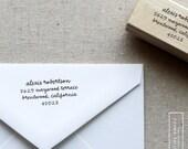 Handwritten Return Address Stamp - Wood or Self-Inking - Style 6