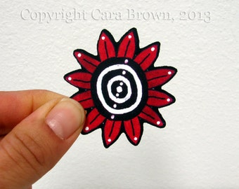 Retro Flower vinyl Sticker for iphone Car window craft decal waterproof Day of the Dead
