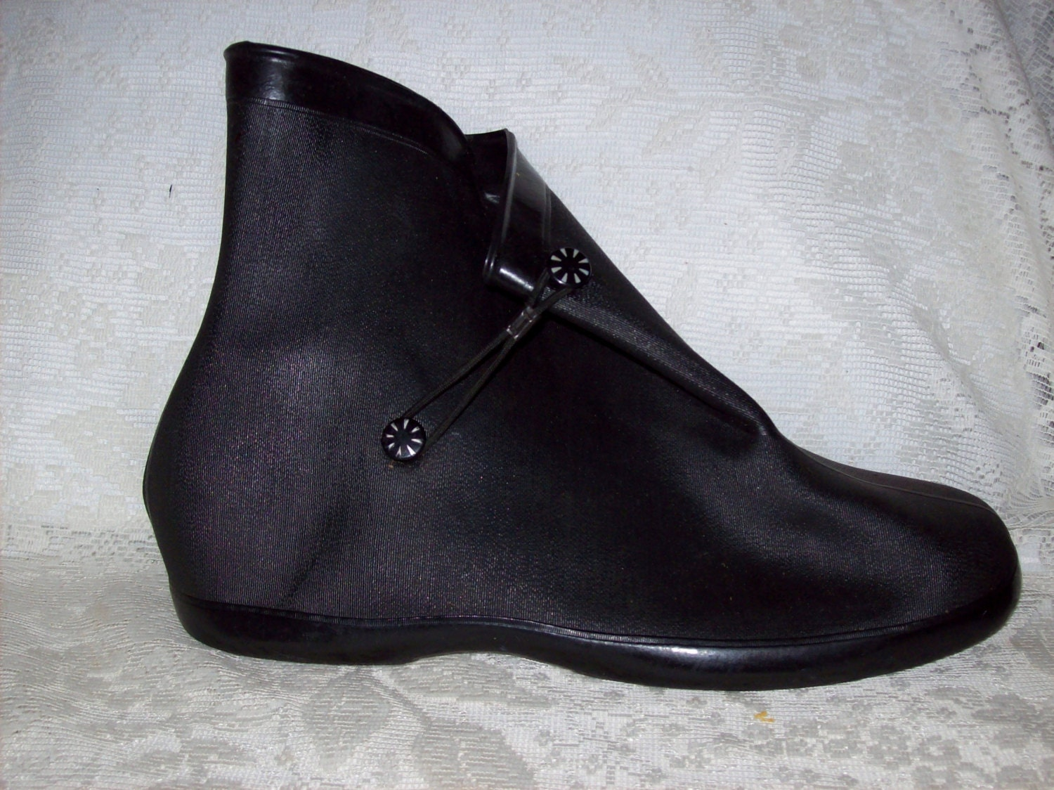 Vintage Ladies Rubber Galoshes Overshoes Size 8 Only 10 USD