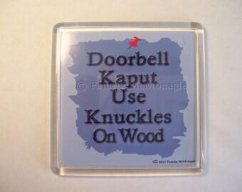 Sign for Broken Doorbell