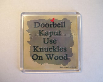 Doorbell Sign Out of Order Knock Instead