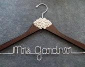 RUSH ORDER - RHINESTONE Wedding Dress Hanger - Crystal Bride Hanger - Personalized Bridal Hanger - Shower Gift - Mrs Hanger - Bride Gift