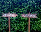 Reserved for Jean.....4no. Personalised Wooden Wedding Signs