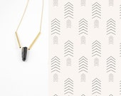 Handmade Raw Quartz Layering Necklace, Minimalist, Everyday Necklace,