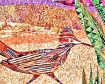 DESERT LANDSCAPE ROADRUNNER Applique Pattern from the Desert Series by Susan Cranshaw