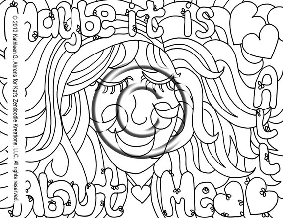 Hippie Coloring Pages Pdf : Instant pdf digital download coloring page hand by