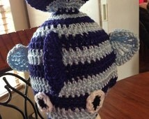 Crochet Fish Hat Live or Dead for anyone Newborn to Adult Great Photo prop :)  Any colors, any style fish!
