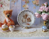 Two Bad Mice Plate for Dollhouse