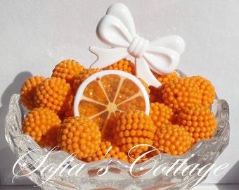 20mm Chunky Orange Berry Beads, 20mm Chunky Orange Bubblegum beads, Chunky Beads, P108