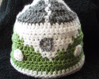 VW Camper van crochet beanie/hat