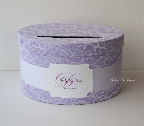 Laced Wedding Card Box, Custom Card Box, Money Box