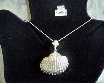 Sterling Silver Cockle Shell Necklace