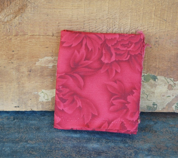 Kona Bay Red Floral Print 2002 Cotton Fabric Destash