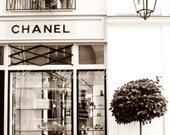Chanel Boutique-Chanel Wall Art - Portrait Style- Sepia -Fashion Art-Preppy Dorm-Vintage-Dreamy-Paris Nursery-Parisian,French,Paris Travel