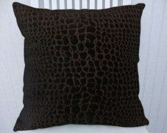 Black Velvet Decorative Pillow Cover--18x18 or 20x20 or 22x22 Throw Pillow- Accent Pillow Cover.