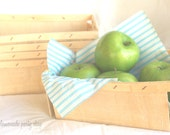 WOOD BERRY BASKETS-- quart size--large rectangular-Fall Party Favor Baskets--Weddings--Showers--Farm Birthday Parties--6ct