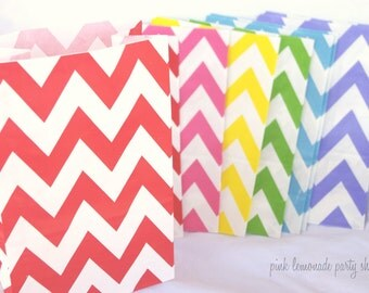 12 STanDing CHeVRoN BaGs-RaiNBoW Pack---packaging-gifts-party favors-