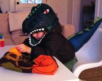 1 Small Halloween Bag - Trick or Treat Bag - Reversible - Orange Marimekko Pumpkins - Tote, Lunch Bag - Boy, Girl - Autumn, Thanksgiving