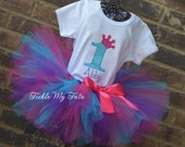 Diva Princess Number Crown Birthday Tutu Outfit, Princess Birthday Tutu Set, Princess Crown Tutu Set