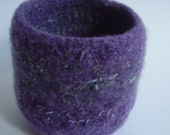 felted wool bowl, wool container, eco friendly storage,  lavender jewelry holder, desktop storage