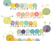 Caterpillar Clipart Clip Art Set - Commercial and Personal use
