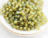 Yellow Seed beads, Toho, size 11/0, Inside color Grey Black - Opaque Yellow Lined, N 246 - 10g - S164