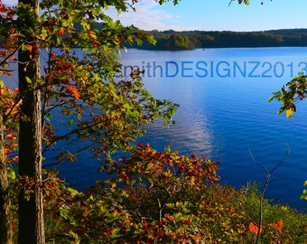Lake Photography, Water Photography Nature Photography, Photo by Abby Smith, Autumn Photography, Home Decor, Lake Decor, Lake View, Wall Art