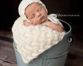 Newborn Hat, Classic Bonnet, Newborn Bonnet, Cream