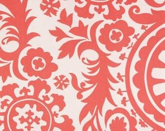 Coral Suzani  Pillow Cover