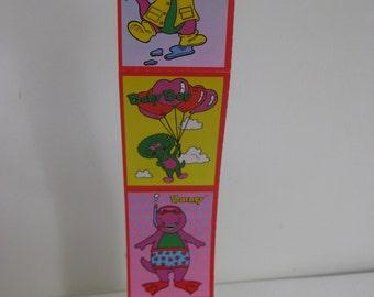 Vintage Set of 5 UNCUT Barney Valentines