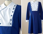 1970s Mod Dress / 70s Dress // The Schoolhouse Rock Dress