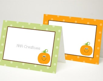 Pumpkin Place Cards - DIY Printable Digital File