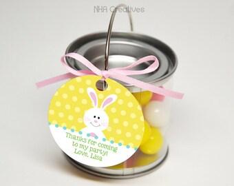 Personalized Bunny Favor Tag - DIY Printable Digital File