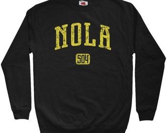 NOLA 504 Sweatshirt - New Orleans - Men S M L XL 2x 3x - Crewneck New Orleans Shirt - 4 Colors