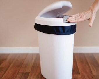 CLOSEOUT - LAST ONE Diaper Pail Liner - Navy Blue Reusable Garbage Pail Liner - Cloth Diaper Pail